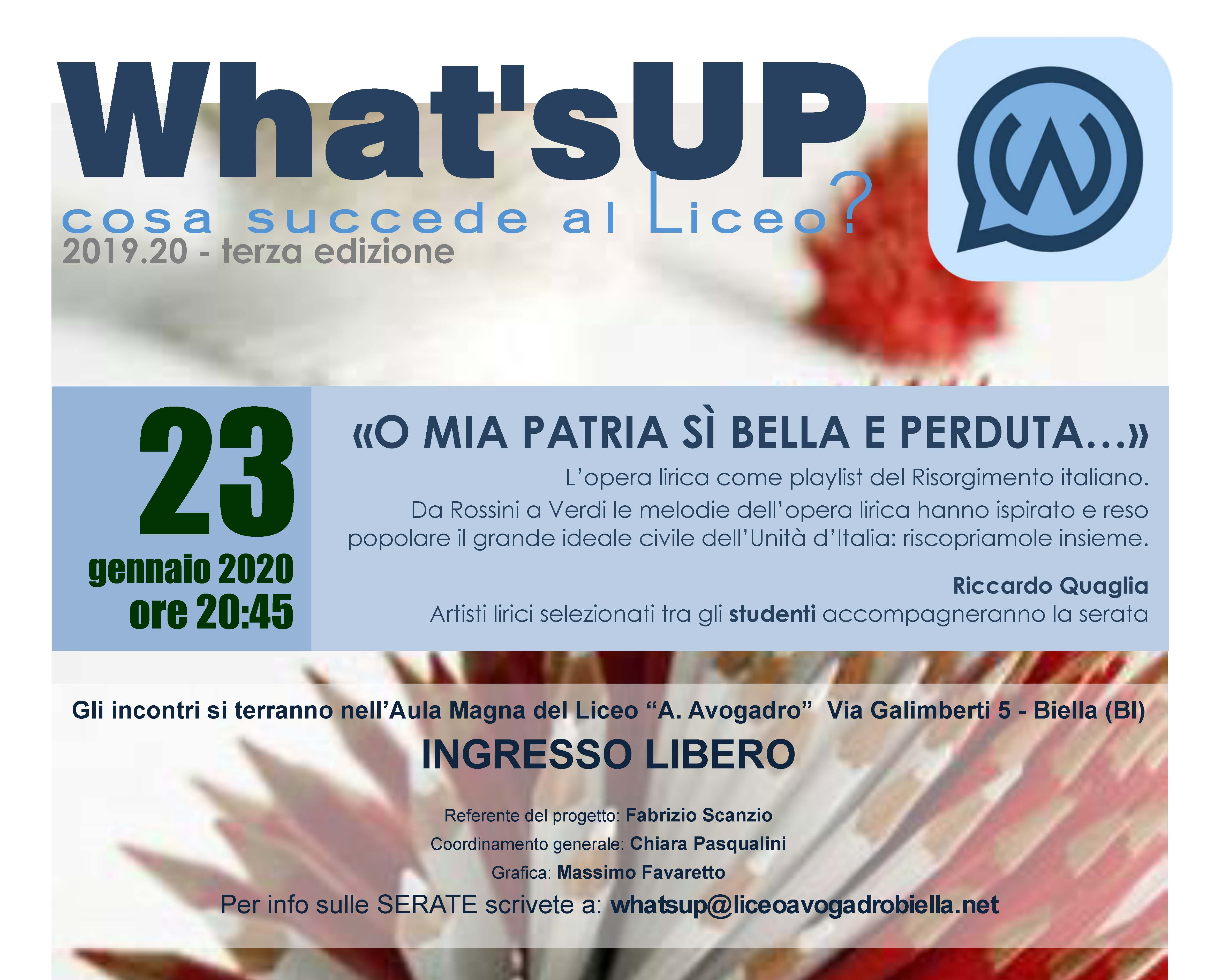 Whats up 23.01